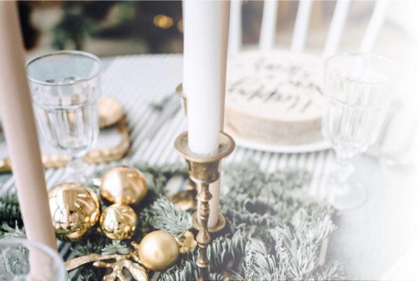 Que tu mesa luzca brillante el día de navidad con los productos ORO